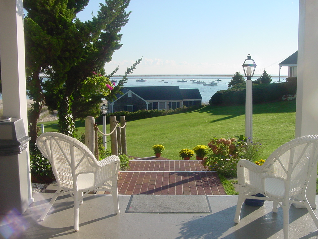 The Hawthorne motel in Chatham Cape Cod with a private beach overlooks Pleasant Bay,.